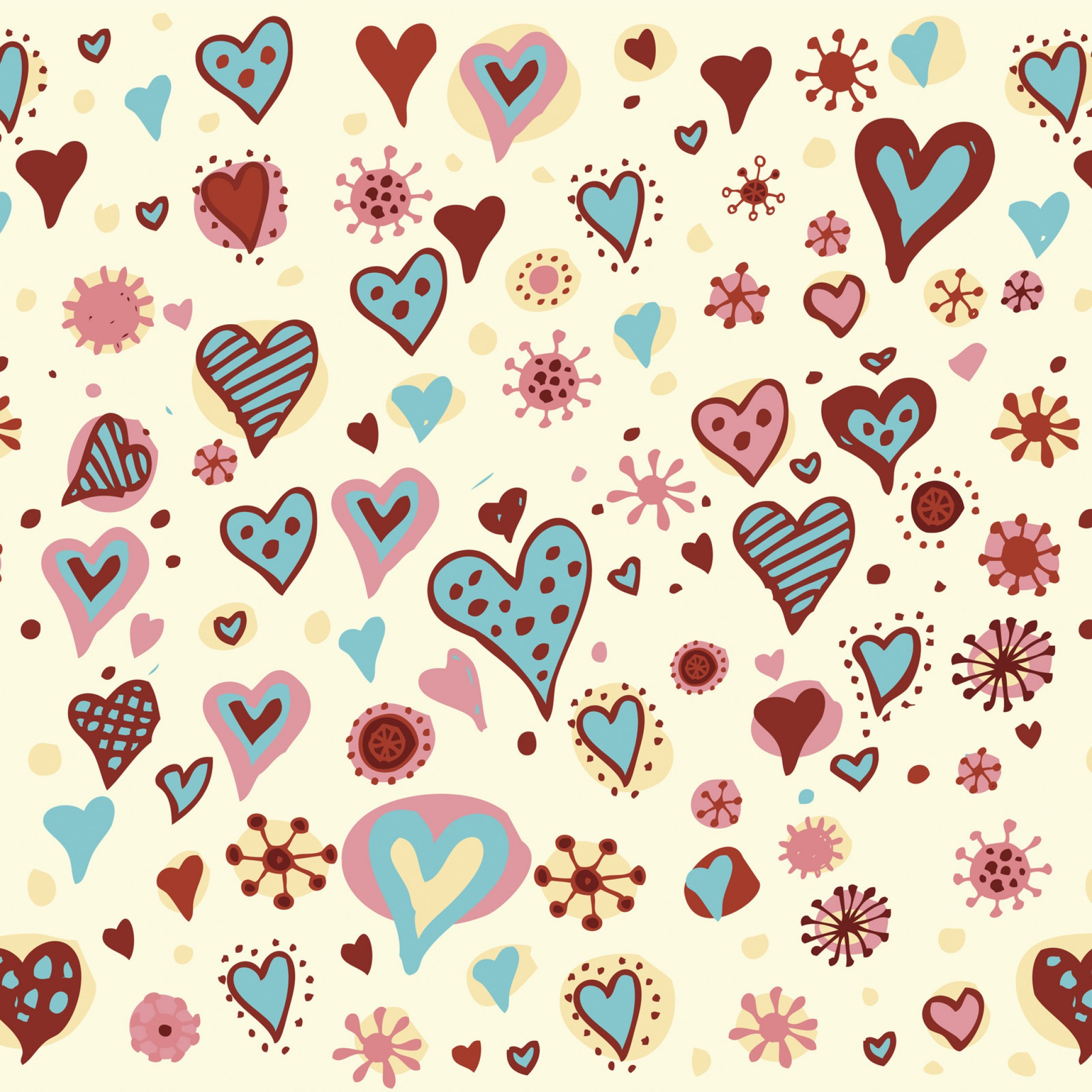 Valentines Day Hearts Textures iPad Air Wallpapers Free Download
