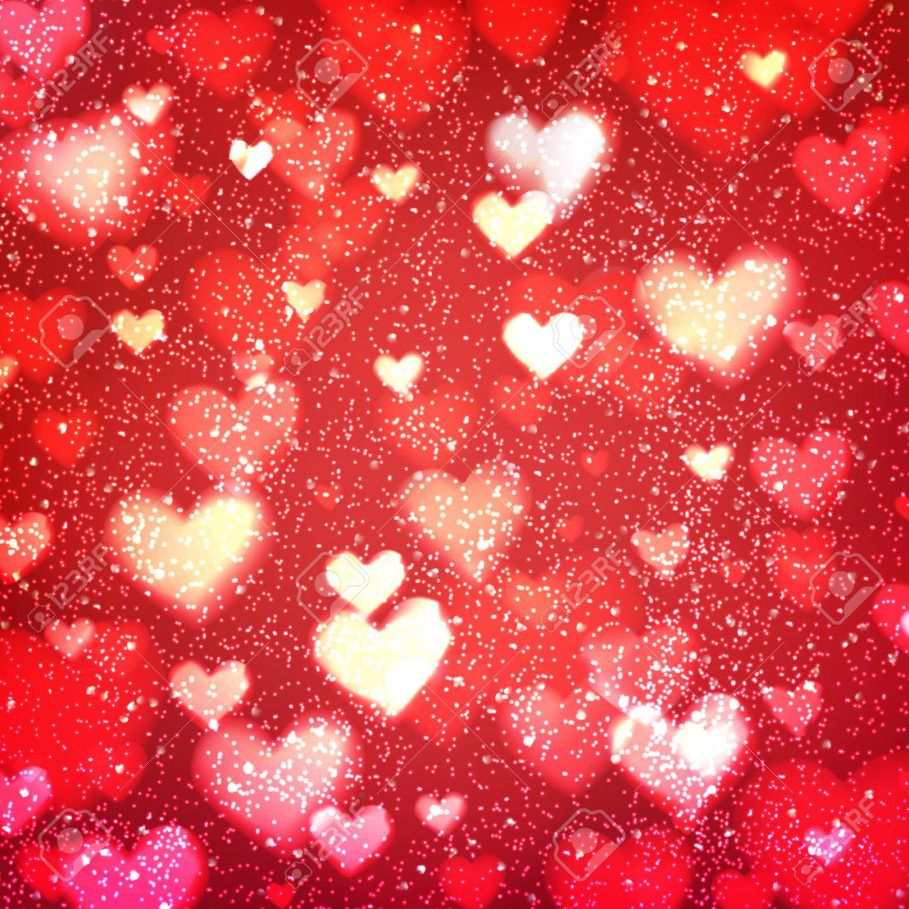 photo stock vector abstract romantic red background with hearts and bokeh lights st valentines day wallpaper blurred gl