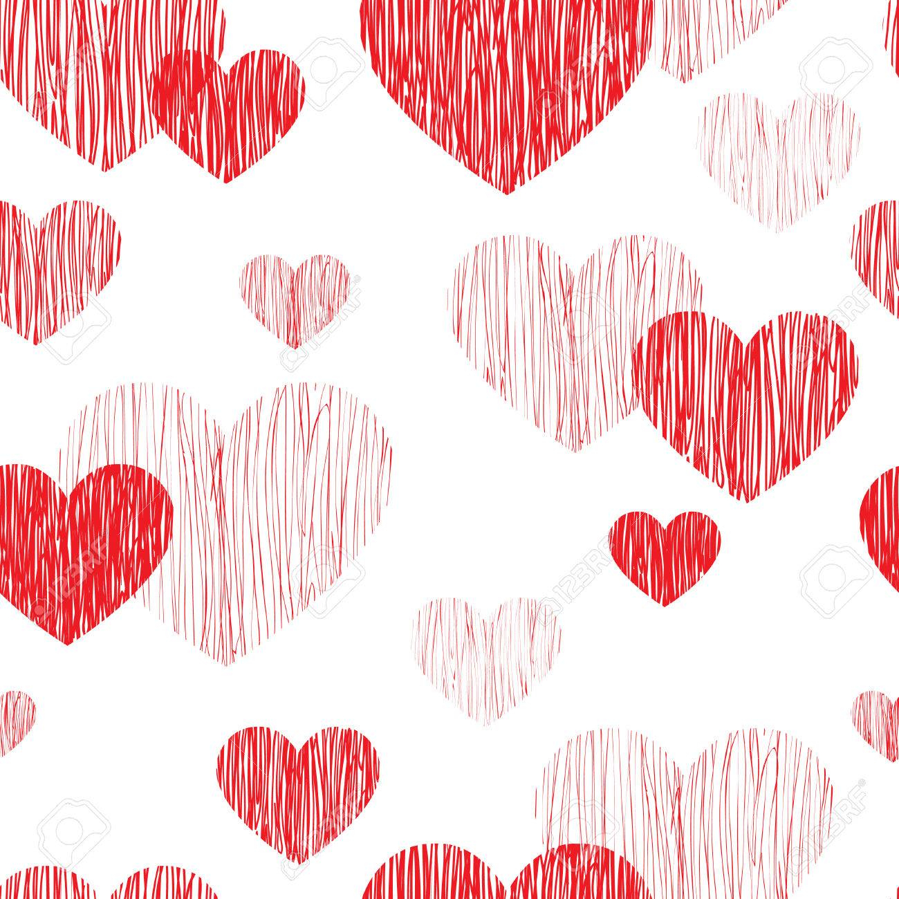 Love heart seamless pattern Happy Valentines day wallpaper