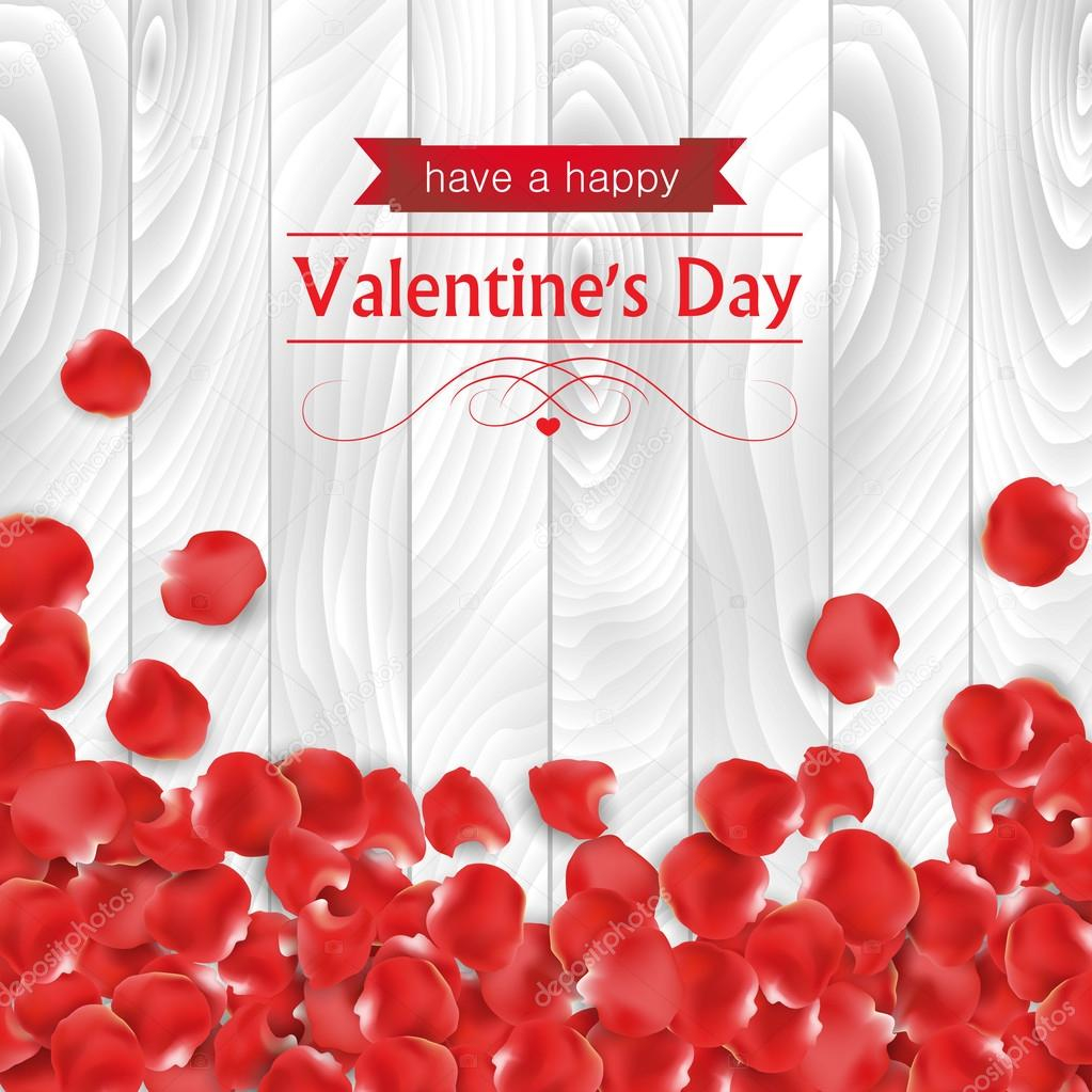 depositphotos stock illustration valentines day card with rose