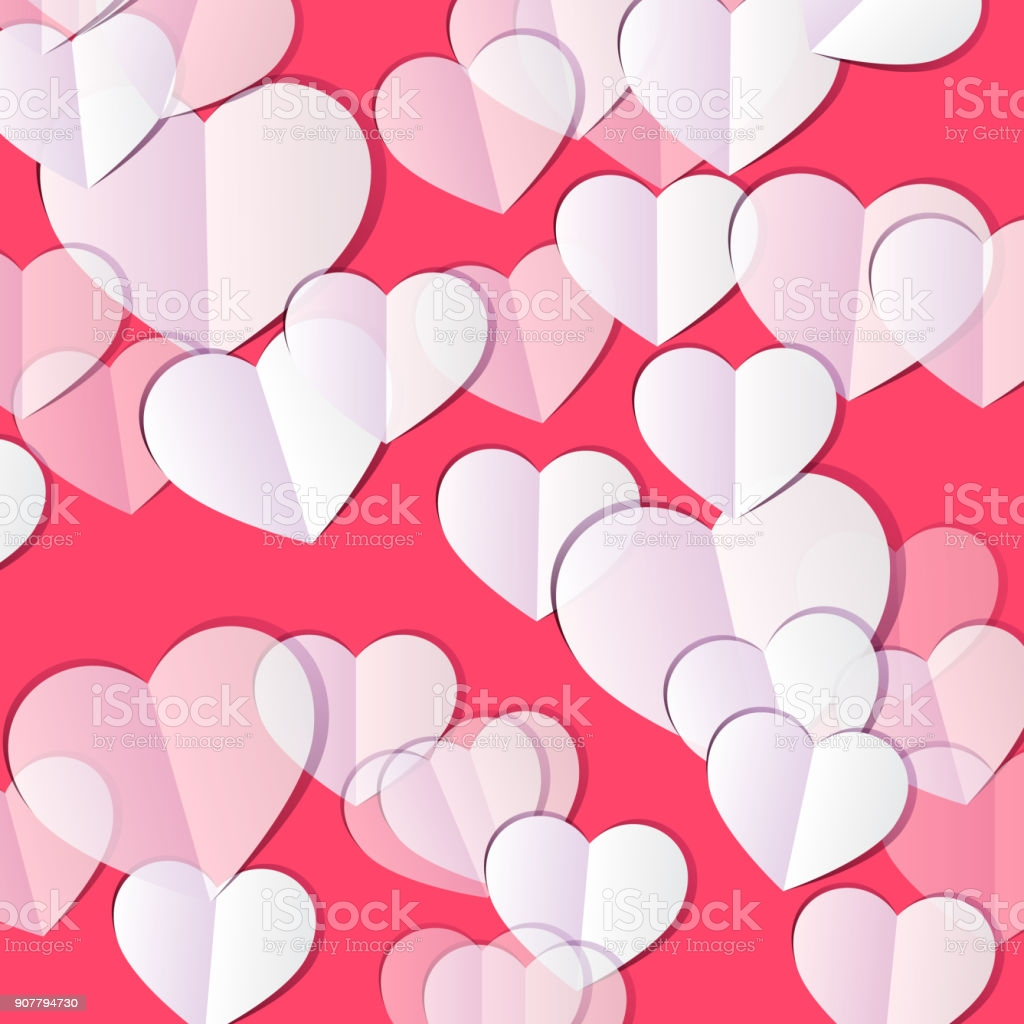 valentines day background with hearts gm