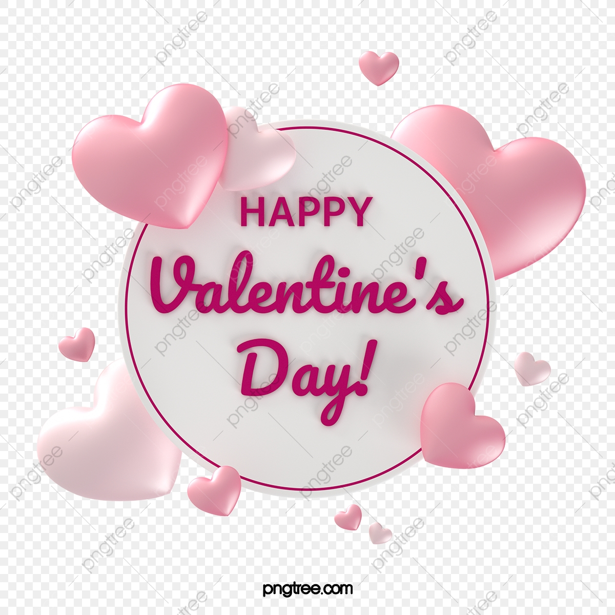 pngtree fresh pink valentines day background board png image