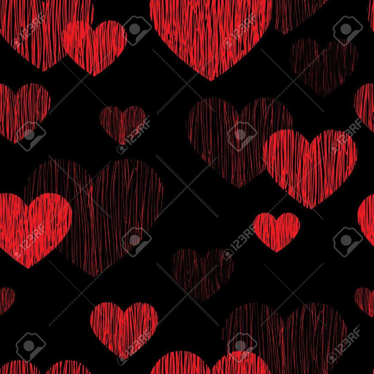 photo stock vector love heart seamless pattern happy valentines day wallpaper love heart pencil sketch tiled background