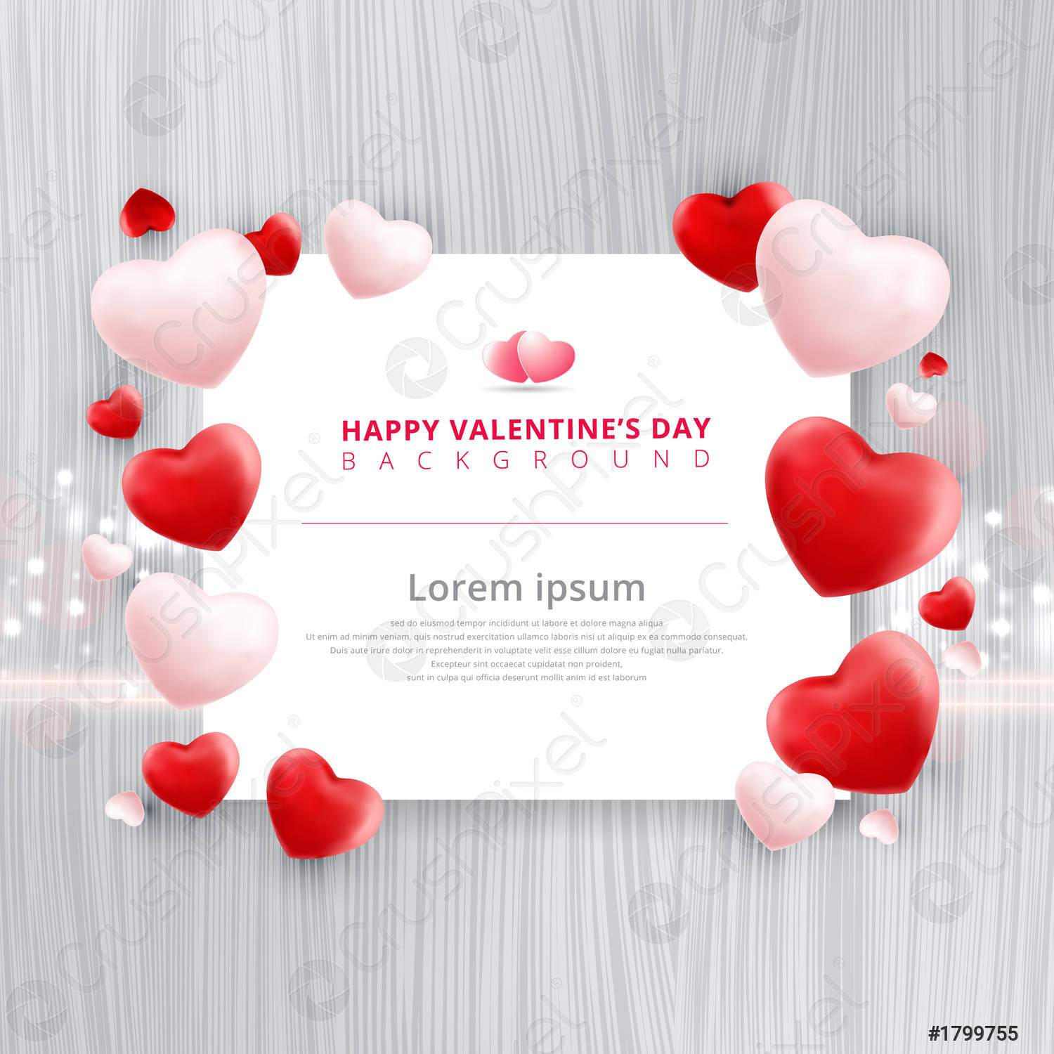 valentines day sale background with