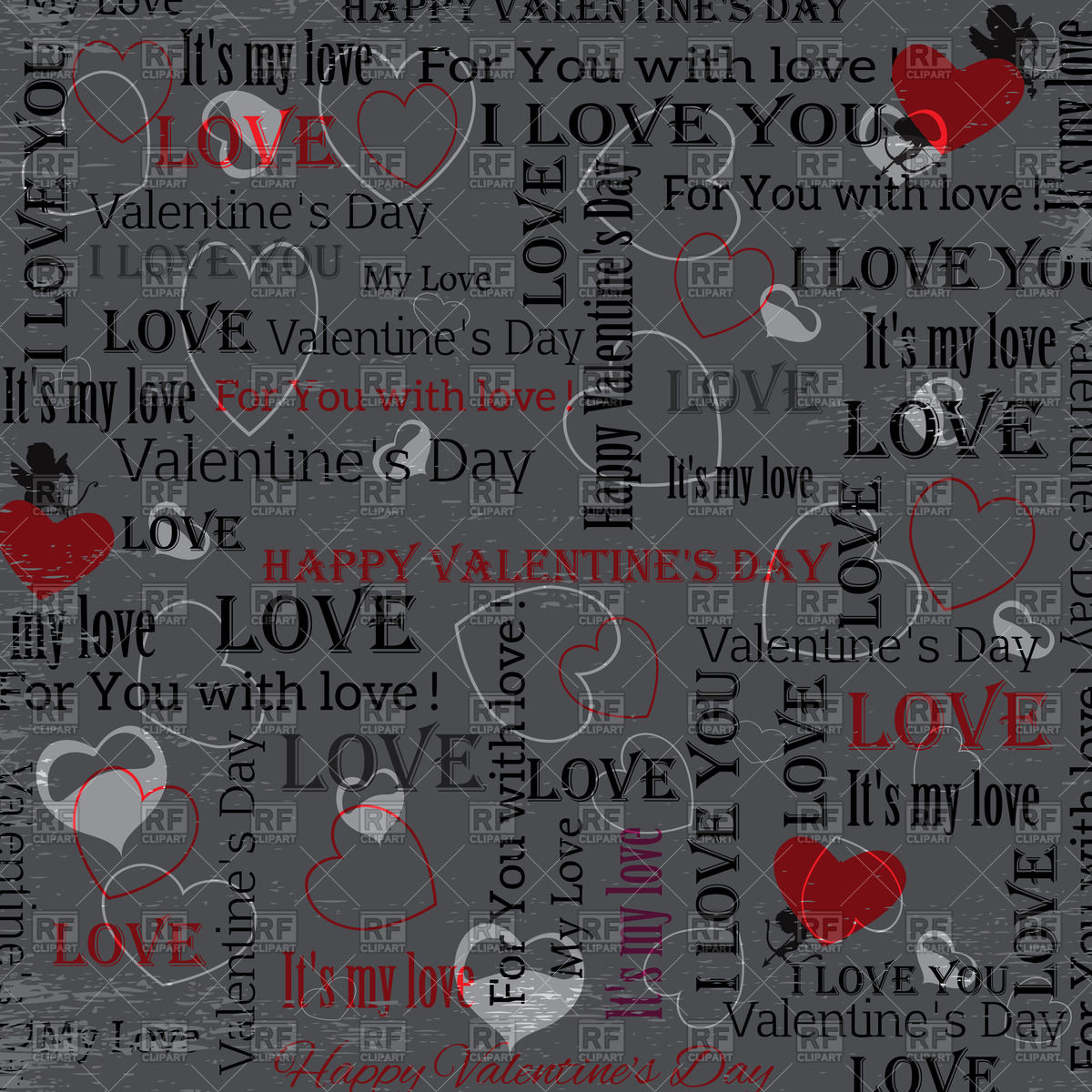 JmJmo valentines day wallpaper with hearts and text in