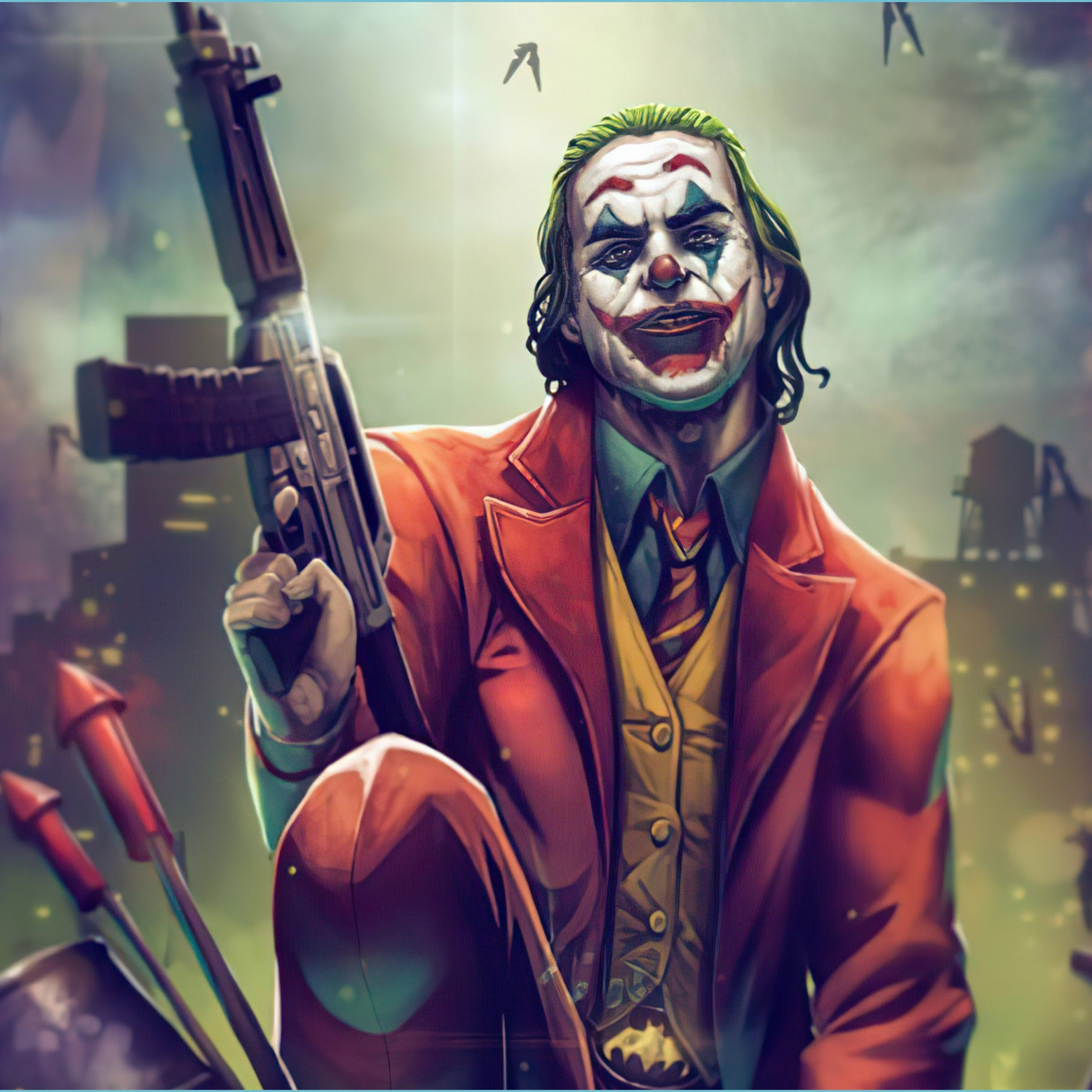 joker with gun up 12k wallpaper title joker with joker wallpaper joker wallpaper 4k