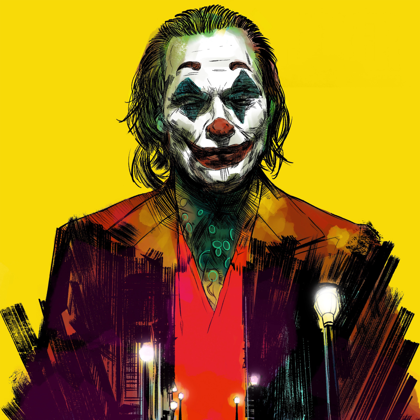 2019 joker movie 4k 1440x1440