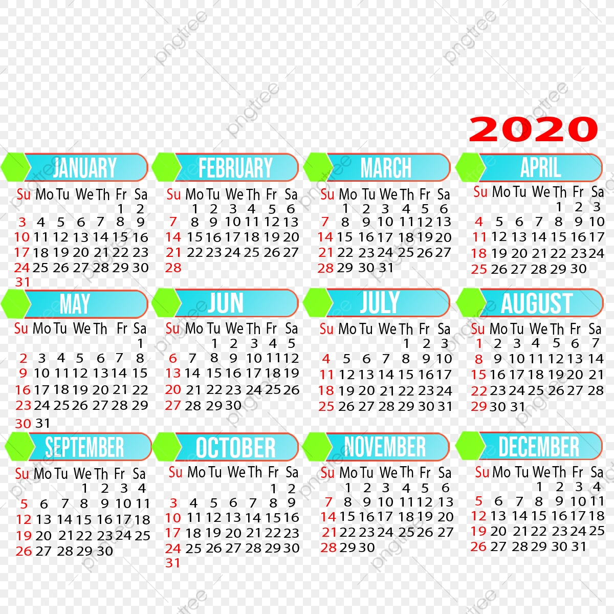 pngtree 2021 yearly calendar design png image