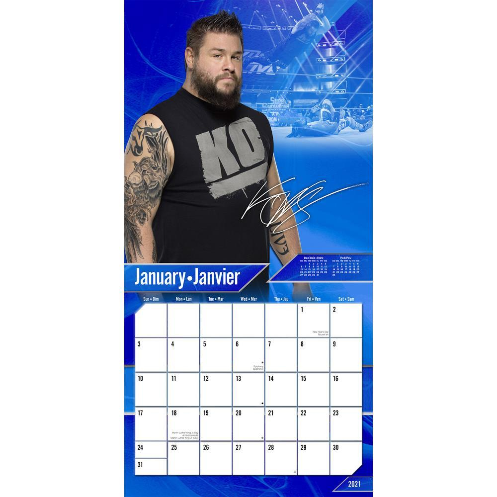 wwe 2021 wall calendar by trends international
