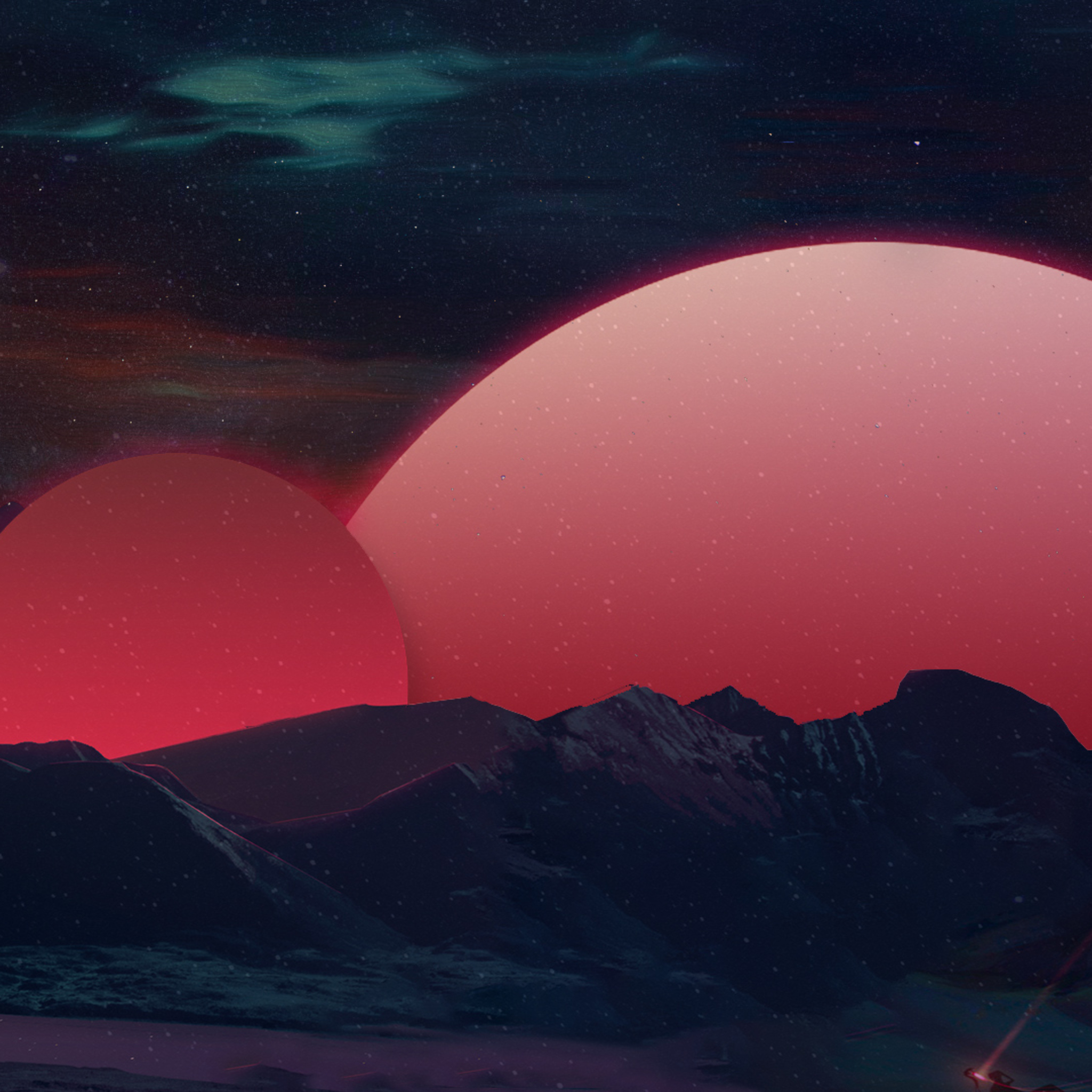 retrowave abstract 4k