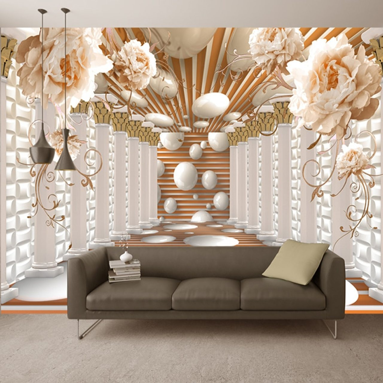 3d wallpaper modern abstract art rome column flower photo wall murals living room study backdrop wall paper home decor 3d fresco