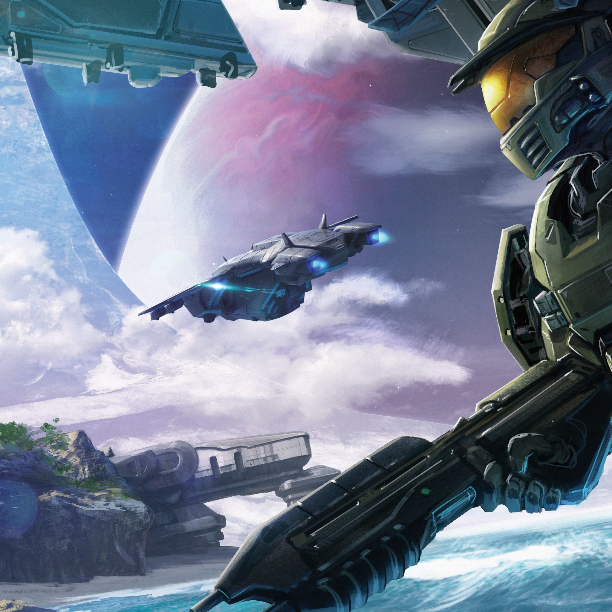 halo conflict artwork 5k