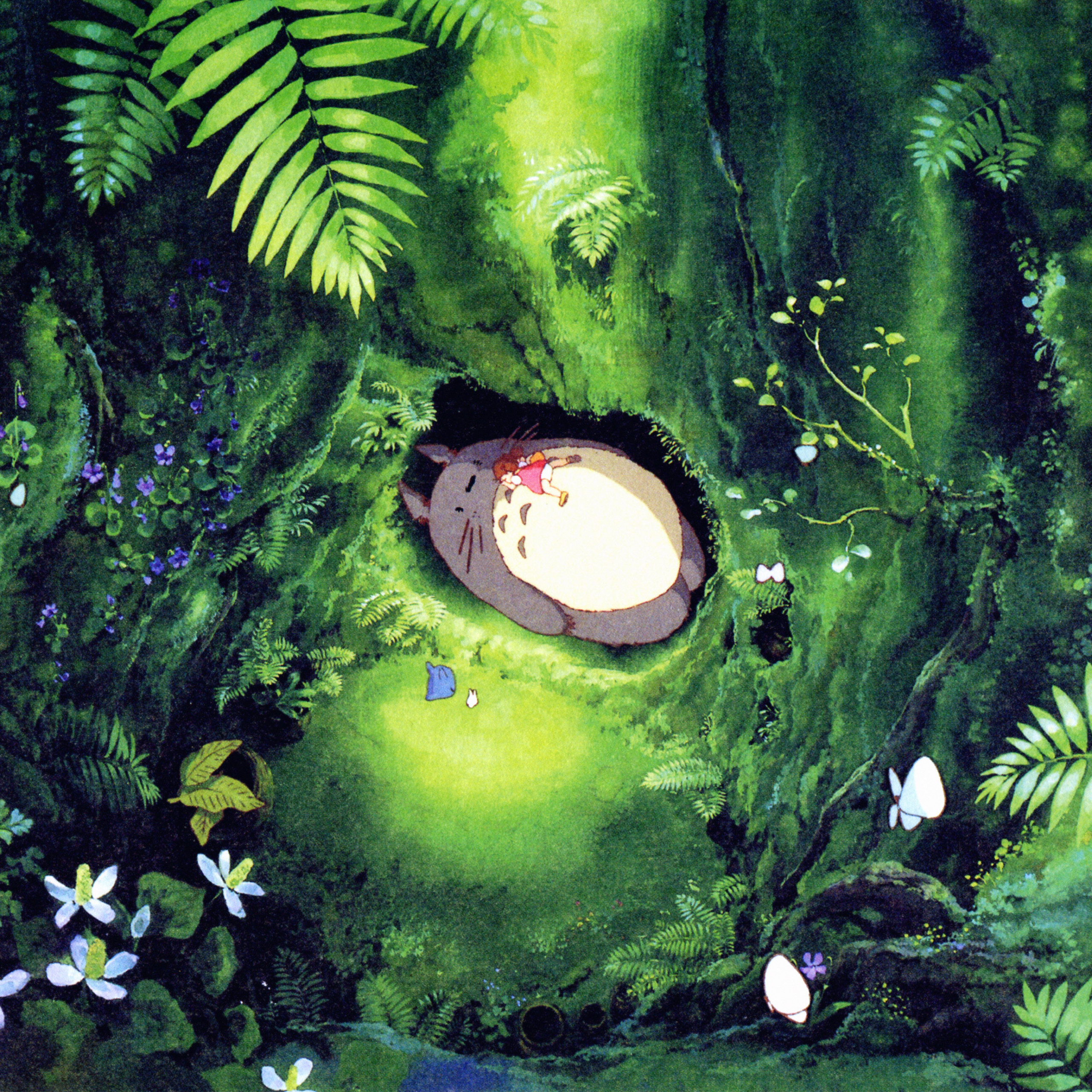 papers ap14 japan totoro art green anime illustration 40 wallpaper