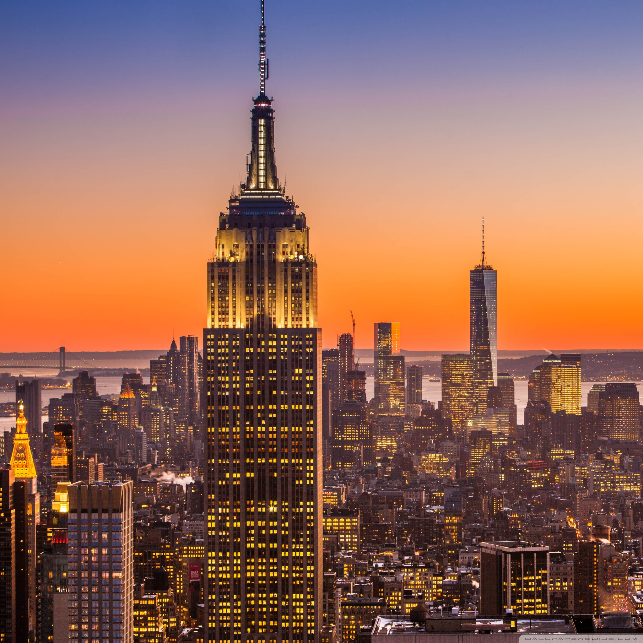 new york city aerial view wallpapers