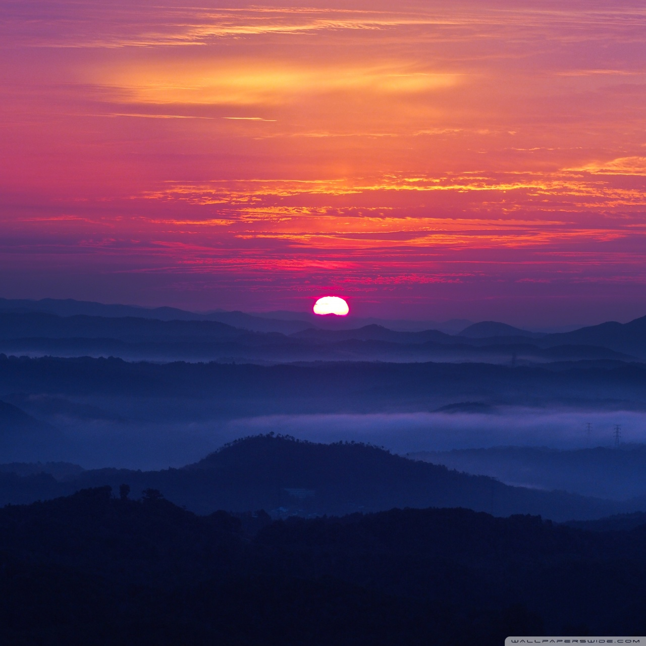 mountain sunset wallpapers