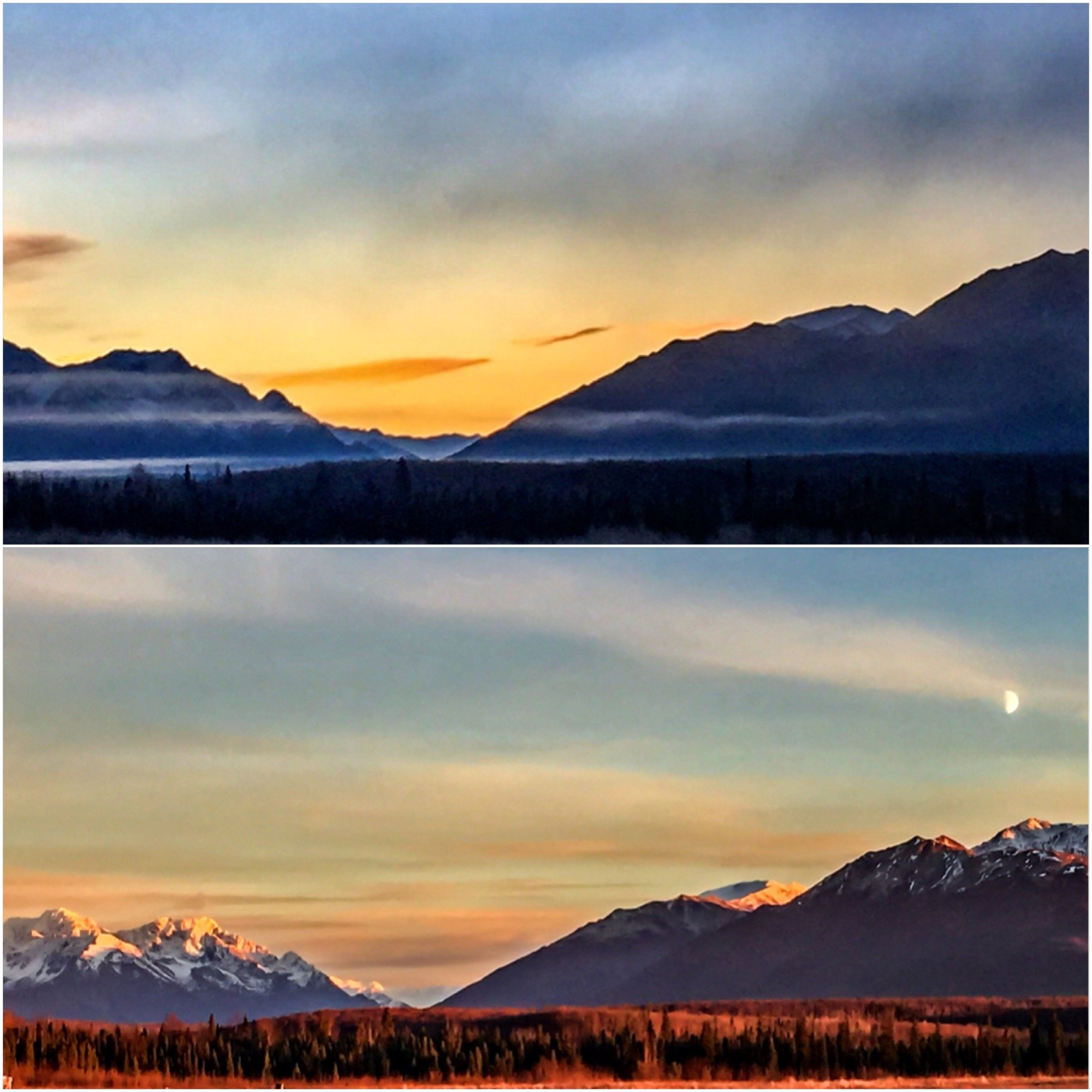 sunrisesunset on the chugach range anchorage alaska wallpaper