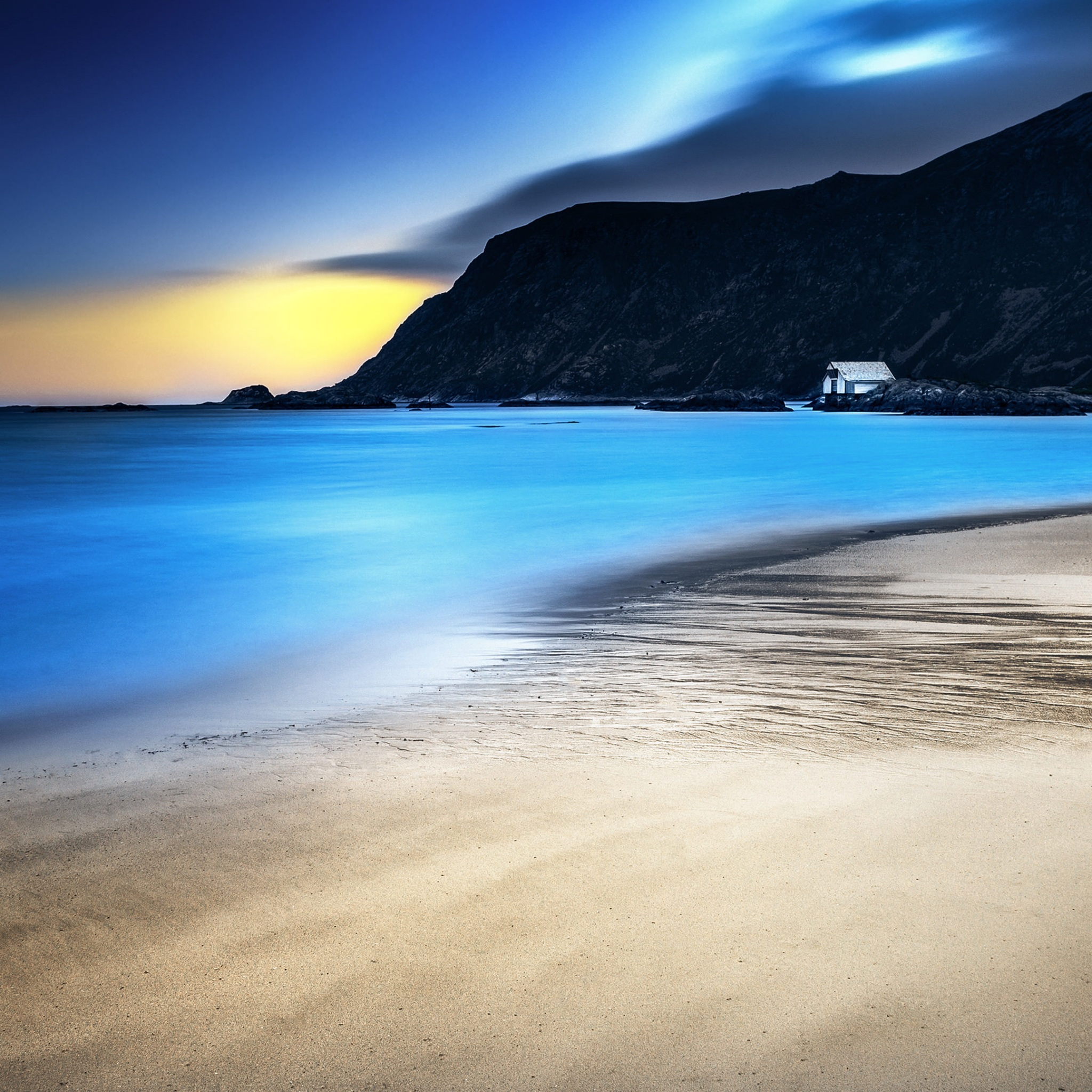 night beach 4k