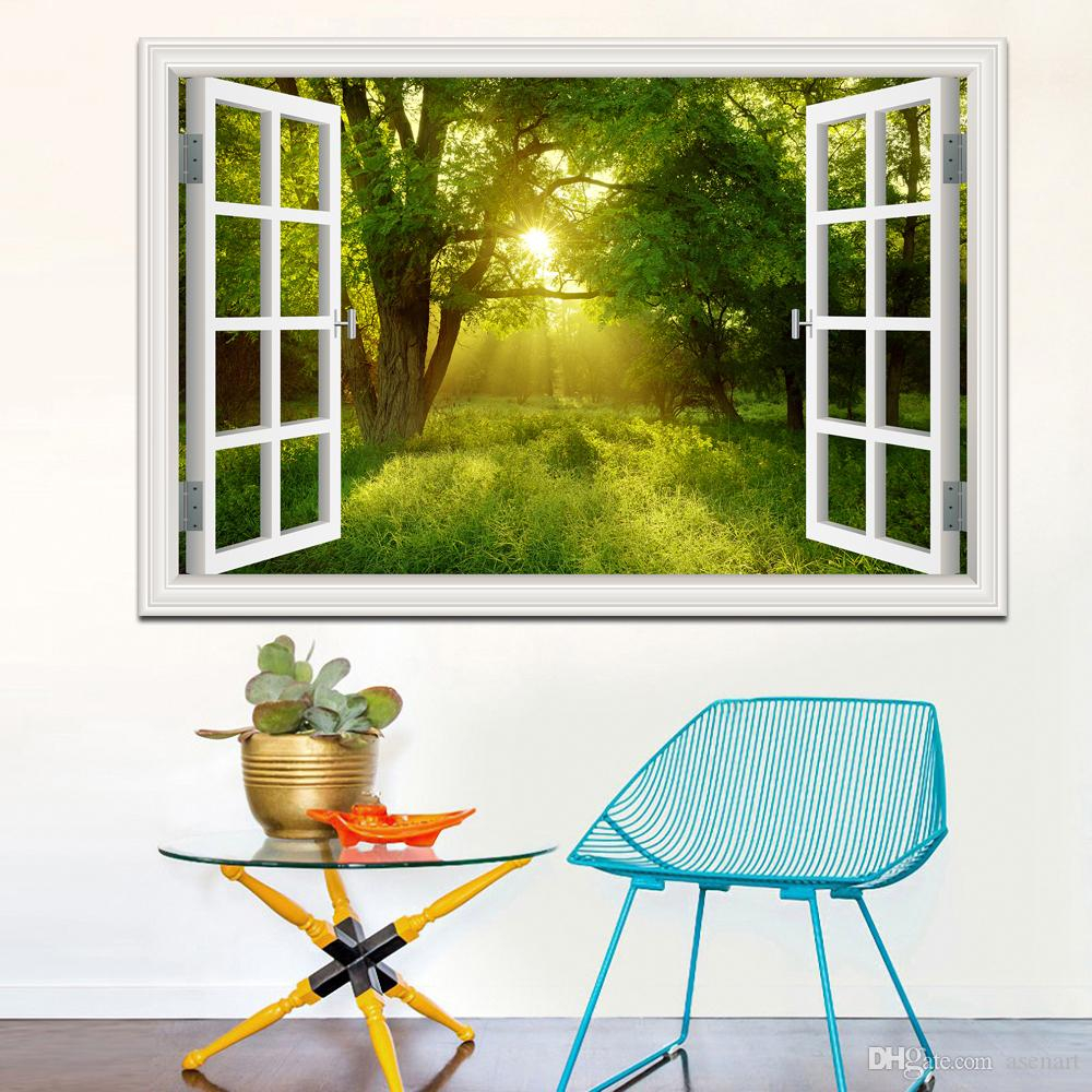amazing forest tree 3d wall sticker removable