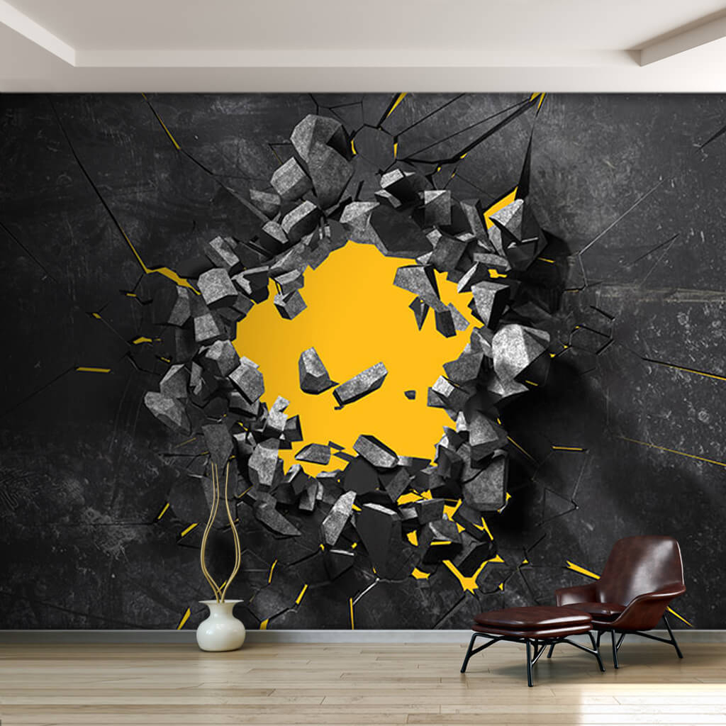 black and yellow 3d wallpaper