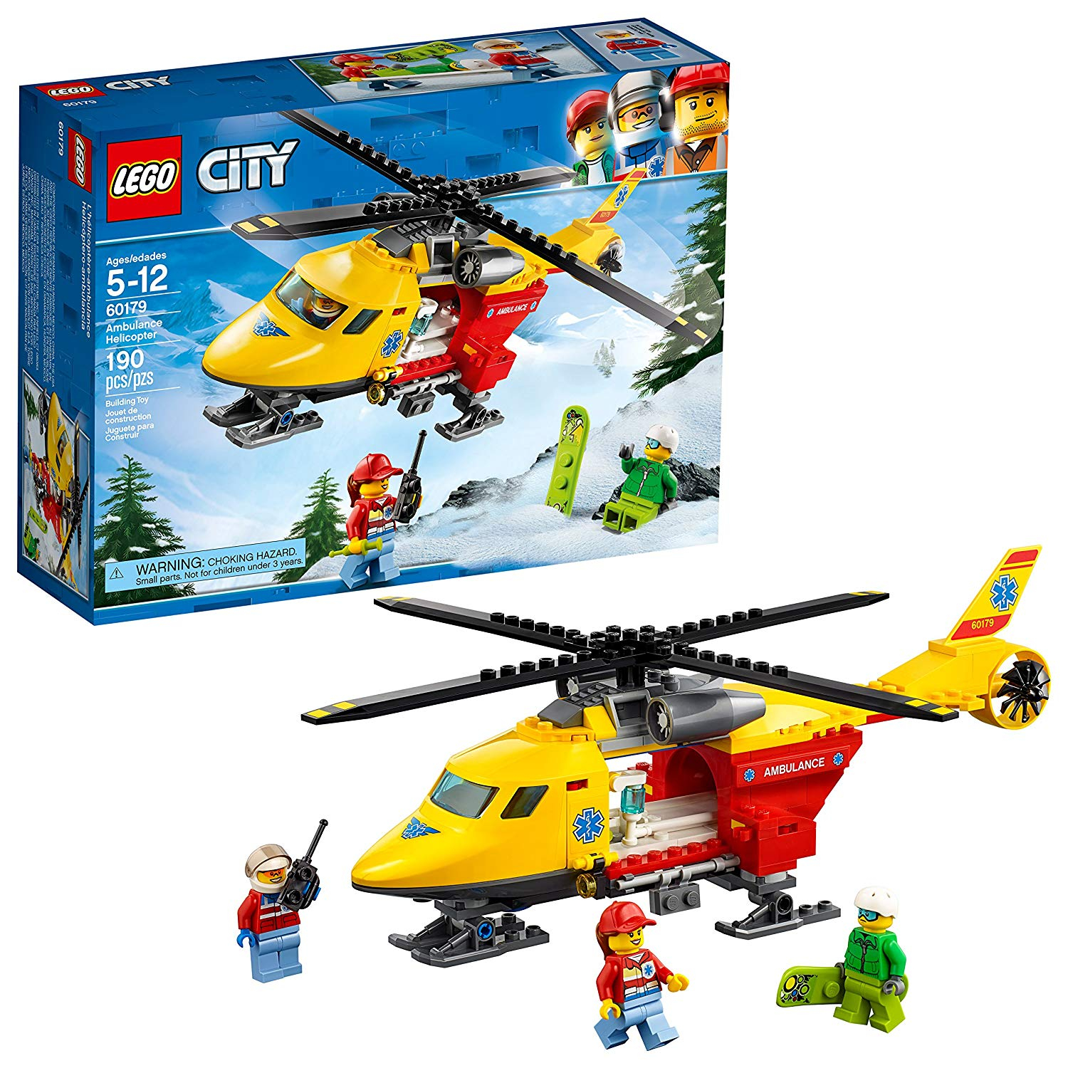 lowest price lego city ambulance helicopter building kit 190 piece