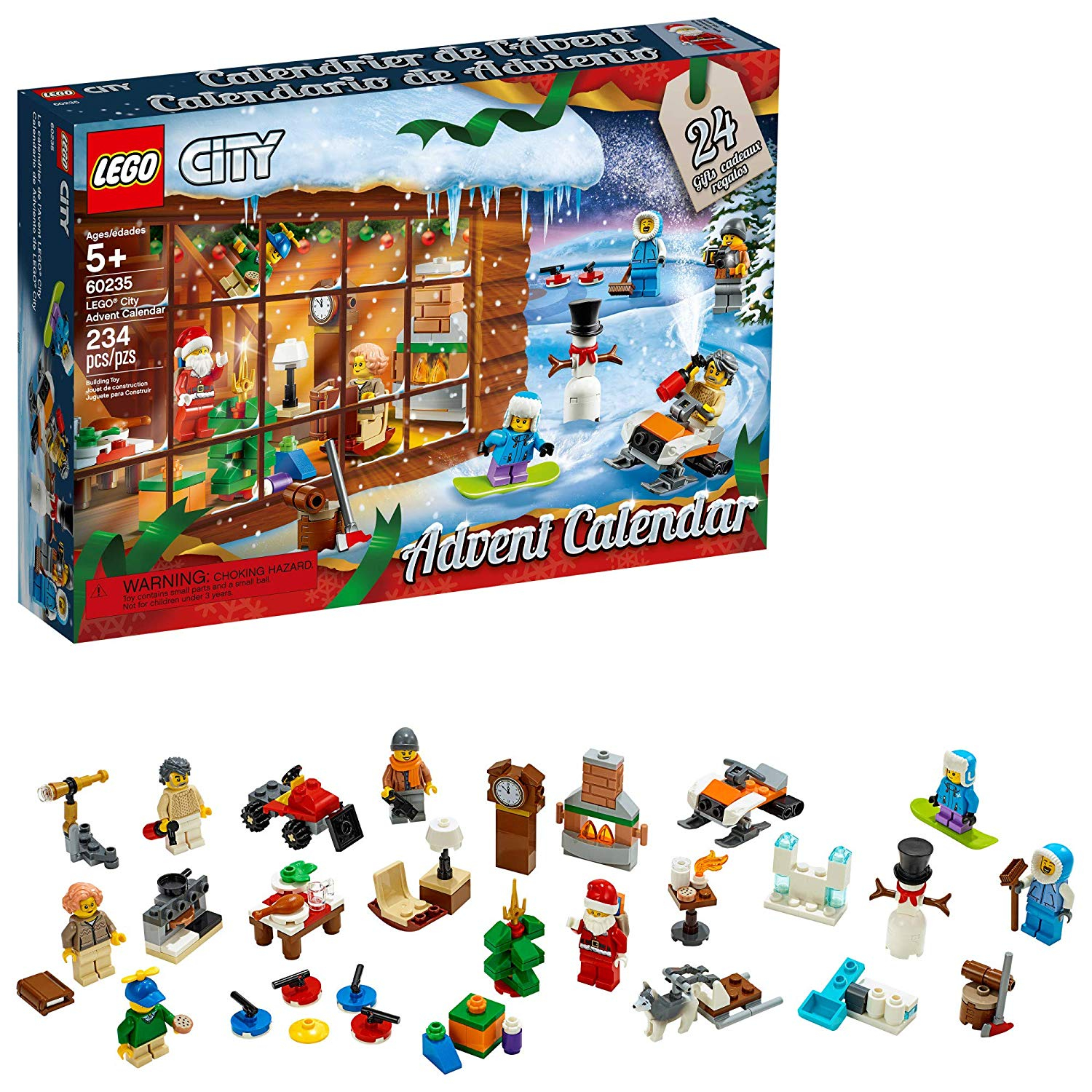 new this year lego city advent calendar building kit new 2019 234 pieces