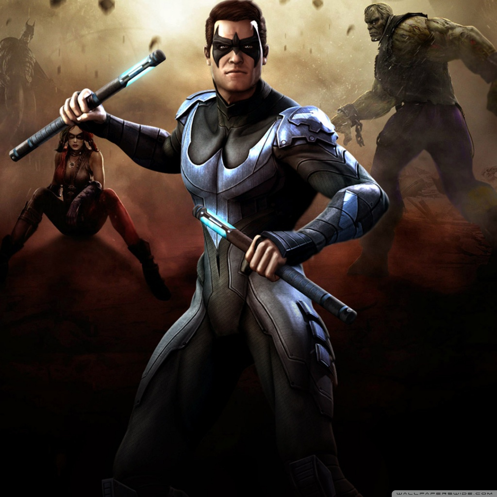 injustice gods among us nightwing wallpapers