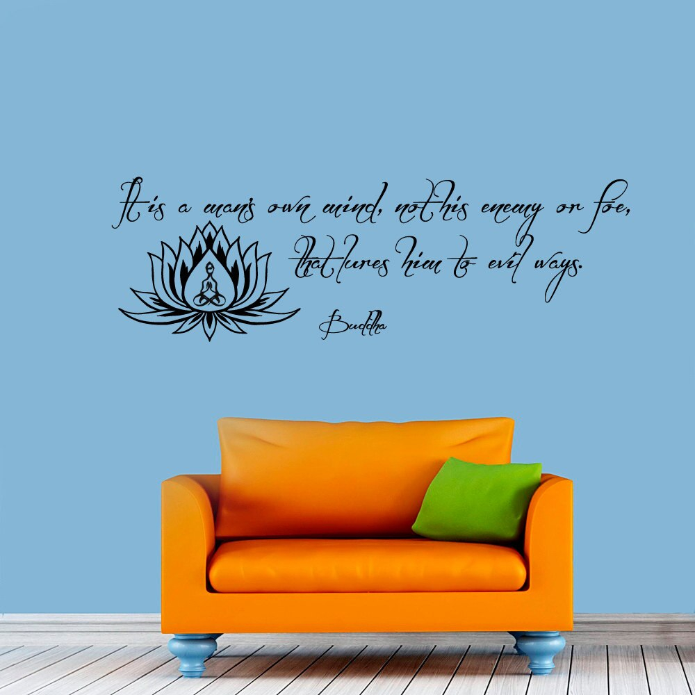 buddha wall sticker lotus decoration sayings home decor self adhesive wallpaper living room bedroom art decals aliexpress quotes by awesome photo