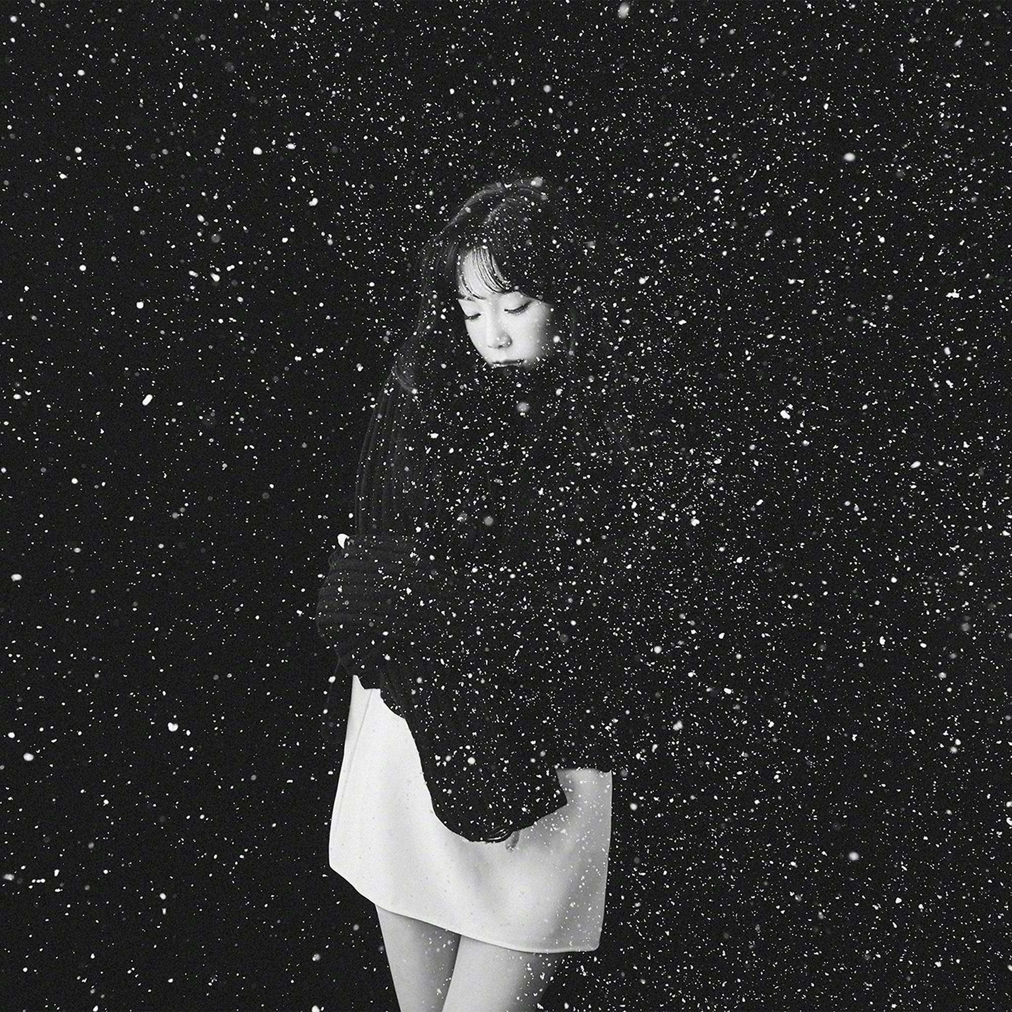 papers ho98 snow girl snsd taeyeon black bw kpop 8 wallpaper