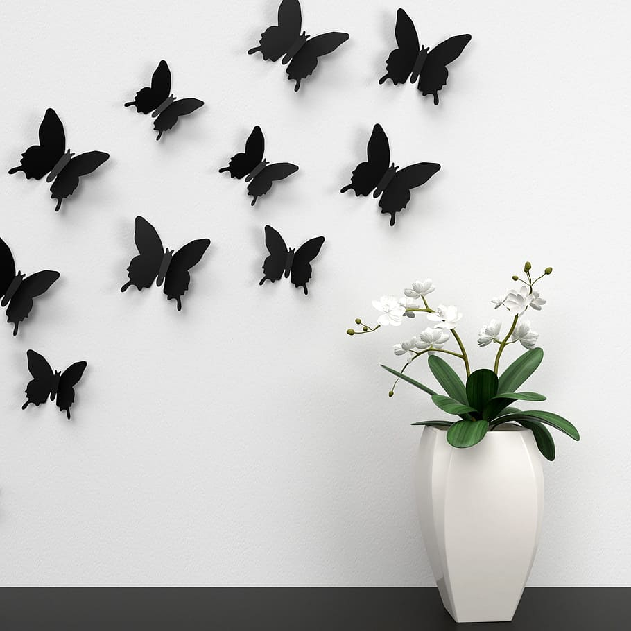 butterfly wall decoration color