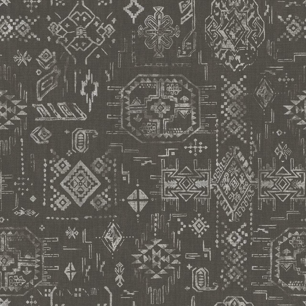 galerie global fusion native american pattern wallpaper g black white