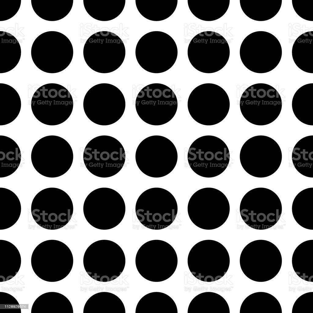 seamless polka dot pattern black and white design for wallpaper fabric textile gm