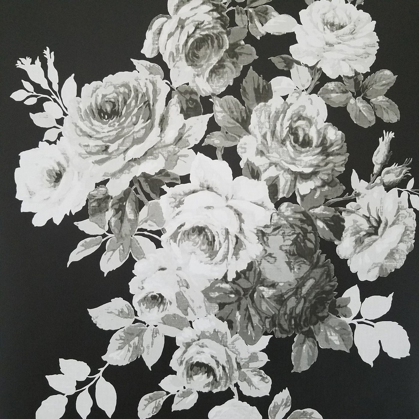 xboiw black and white wallpaper floral