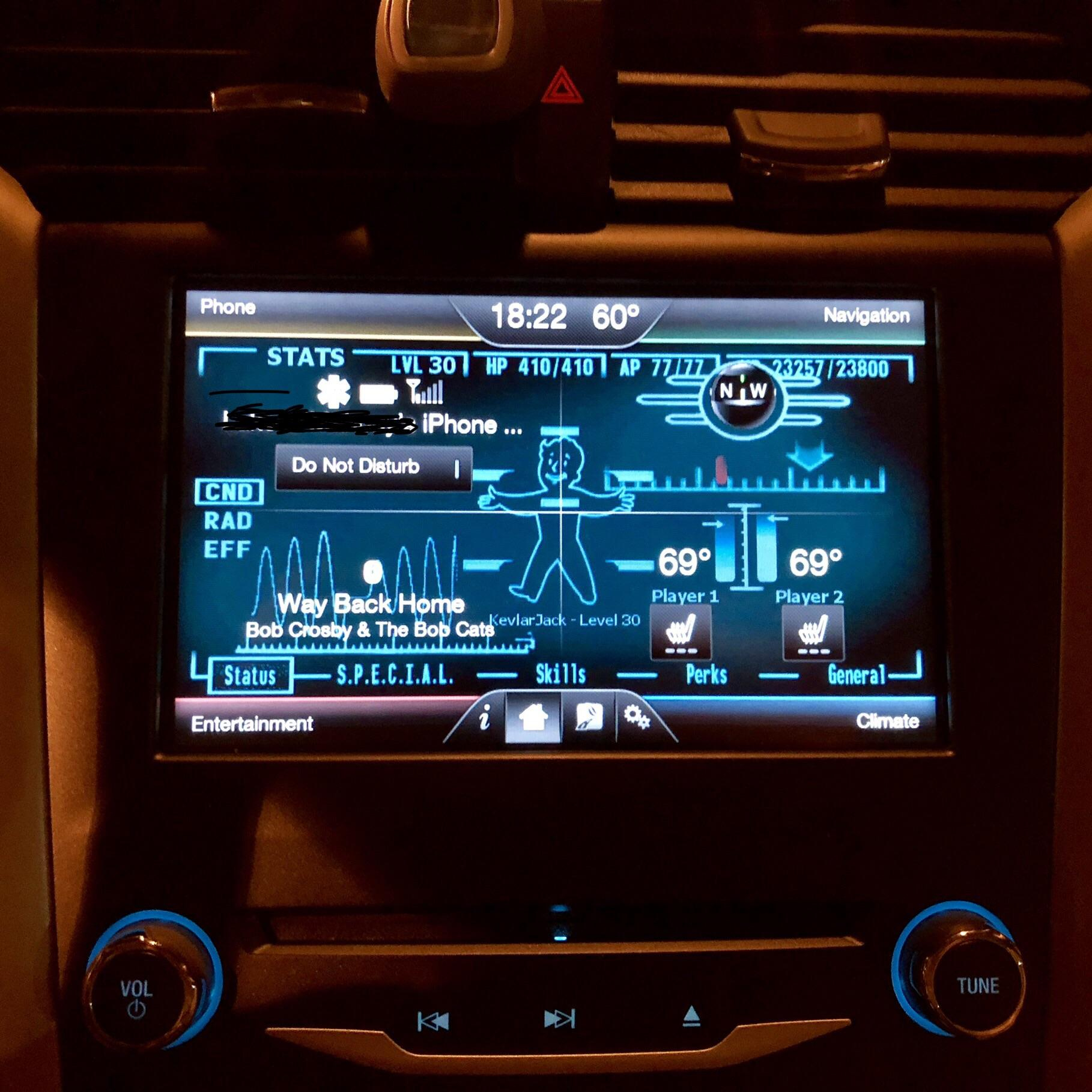 Pip boy Wallpaper From Fallout In My Car Vehicle Audio Hd