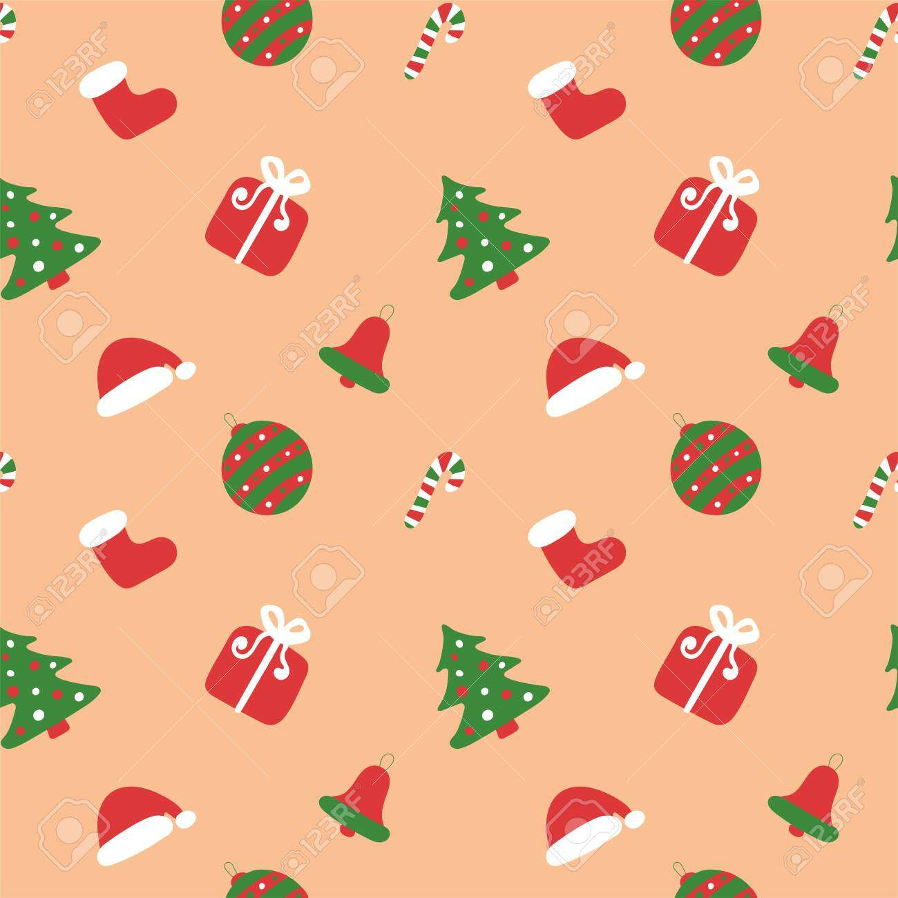 christmas kids pattern winter holiday wallpaper seamless texture for the new year santa s boot and h