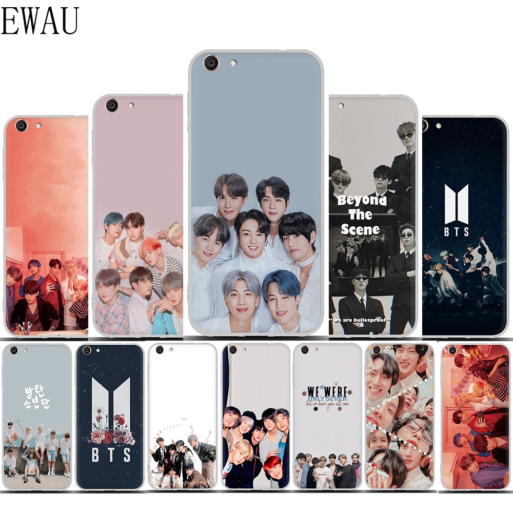 Korean Fashion Group BTS Wallpaper soft casing for VIVO Y11 Transparent soft phone anti fall protective shell i