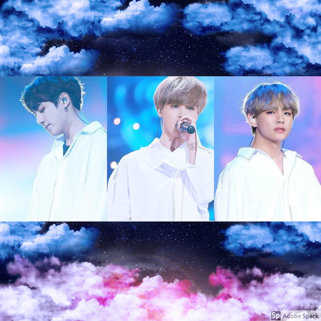aesthetic vminkook blue and pink clouds by rubyheart22 dc15zlj fullview