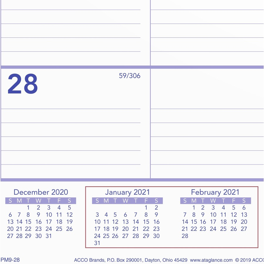 At A Glance 2 Month Wall Calendar Monthly 1 Year January 2021 till December 2021 2 Month Single Page Layout 29 x 22 Sheet Size 3 x AAGPM928x