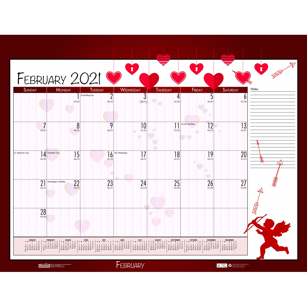 monthly deskpad calendar seasonal holiday depictions 22 x 17 inches