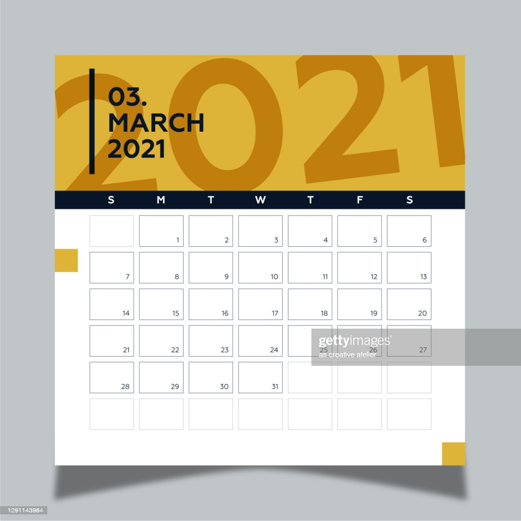 calendar 2021 year template day planner in this minimalist 2021 march vector id