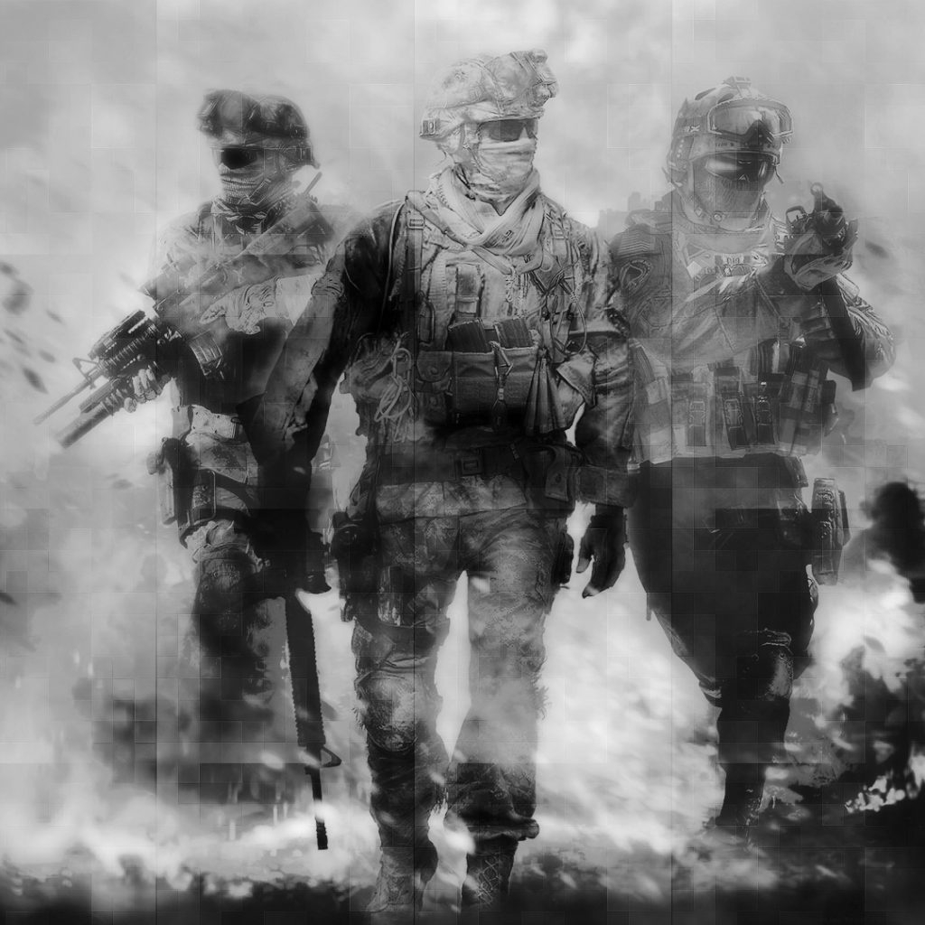 call of duty modern warfare 2 black and white