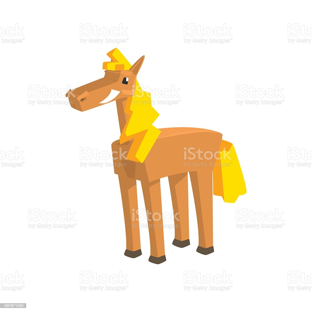 toy horse drawing isolated on white background gm