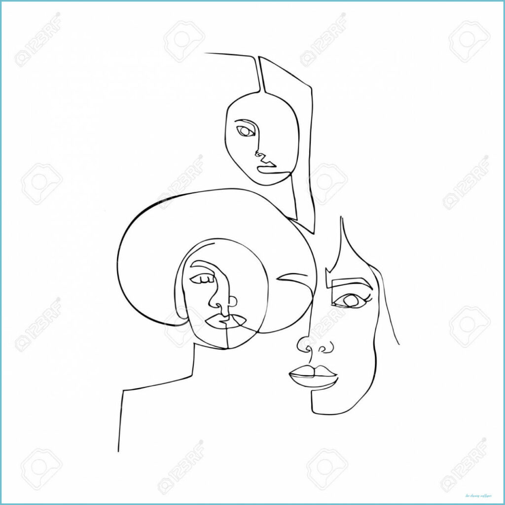 wallpaper with women one continuous line drawing of women minimalism line drawing wallpaper 1024x1024
