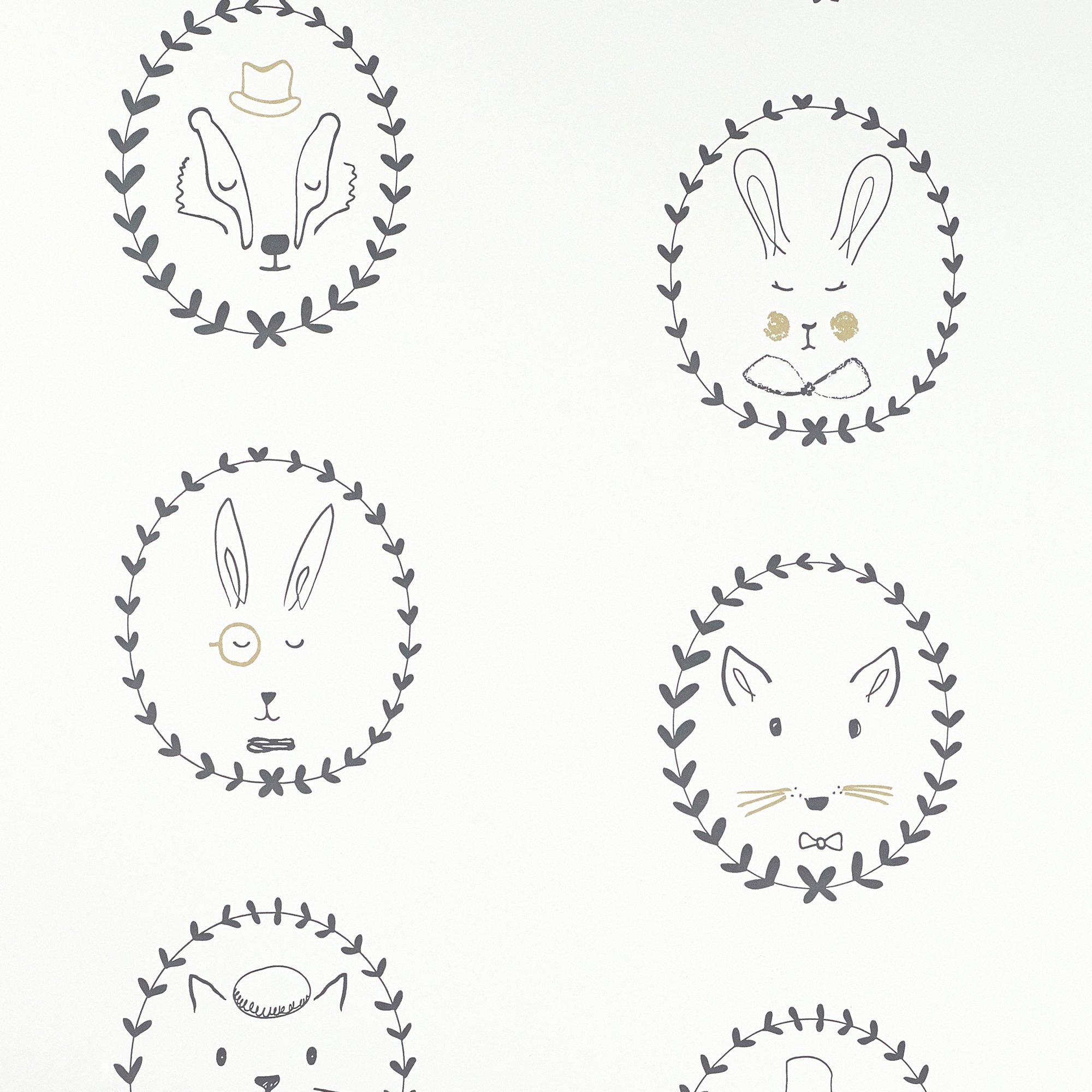 portraits wallpaper blackwhitegold ds wallpaper hibou home bobby rabbit