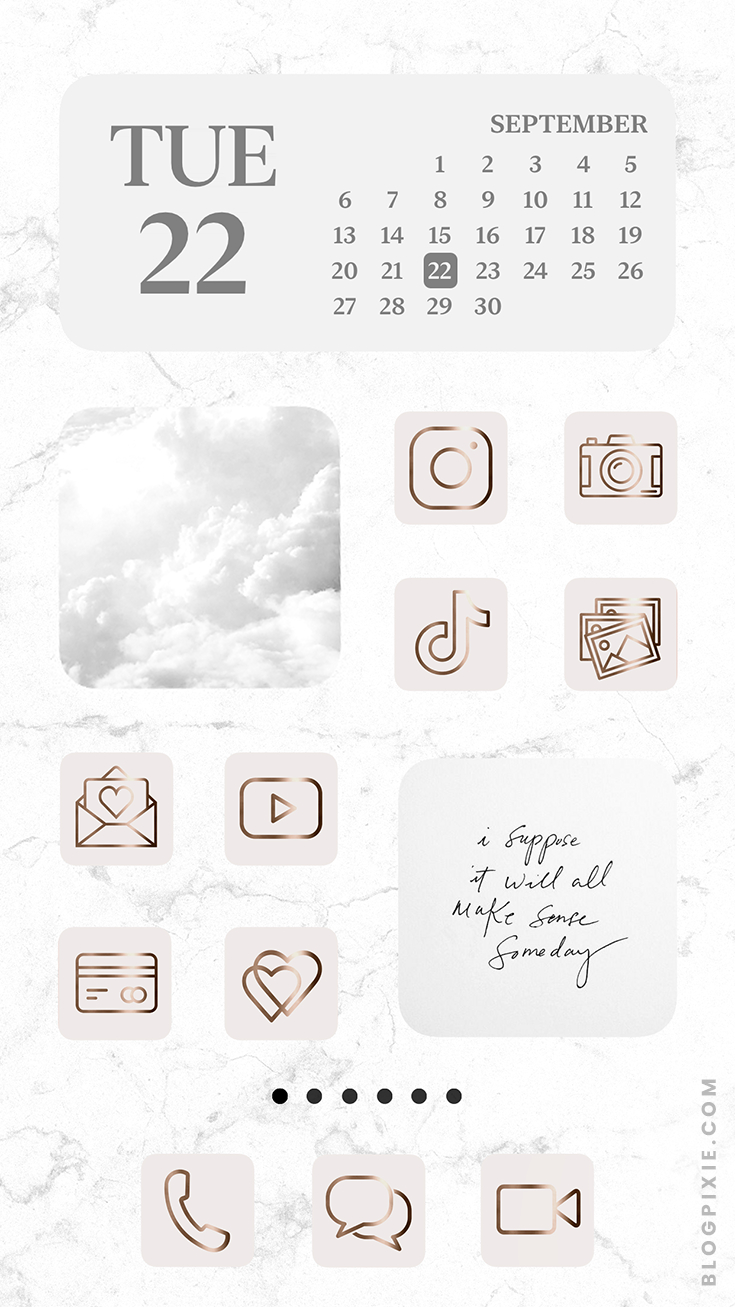 App Icons Rose Gold Aesthetic
