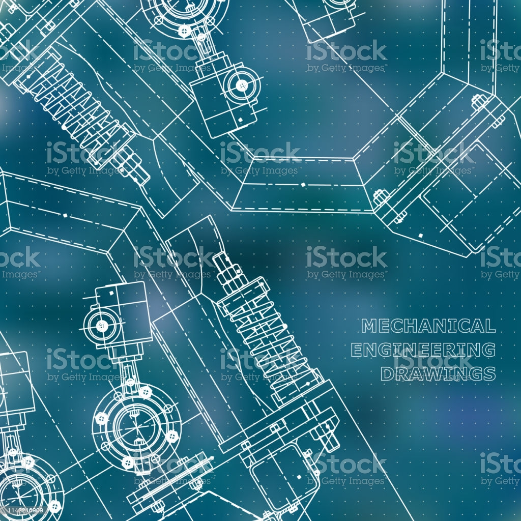 mechanical engineering drawings vector background gm