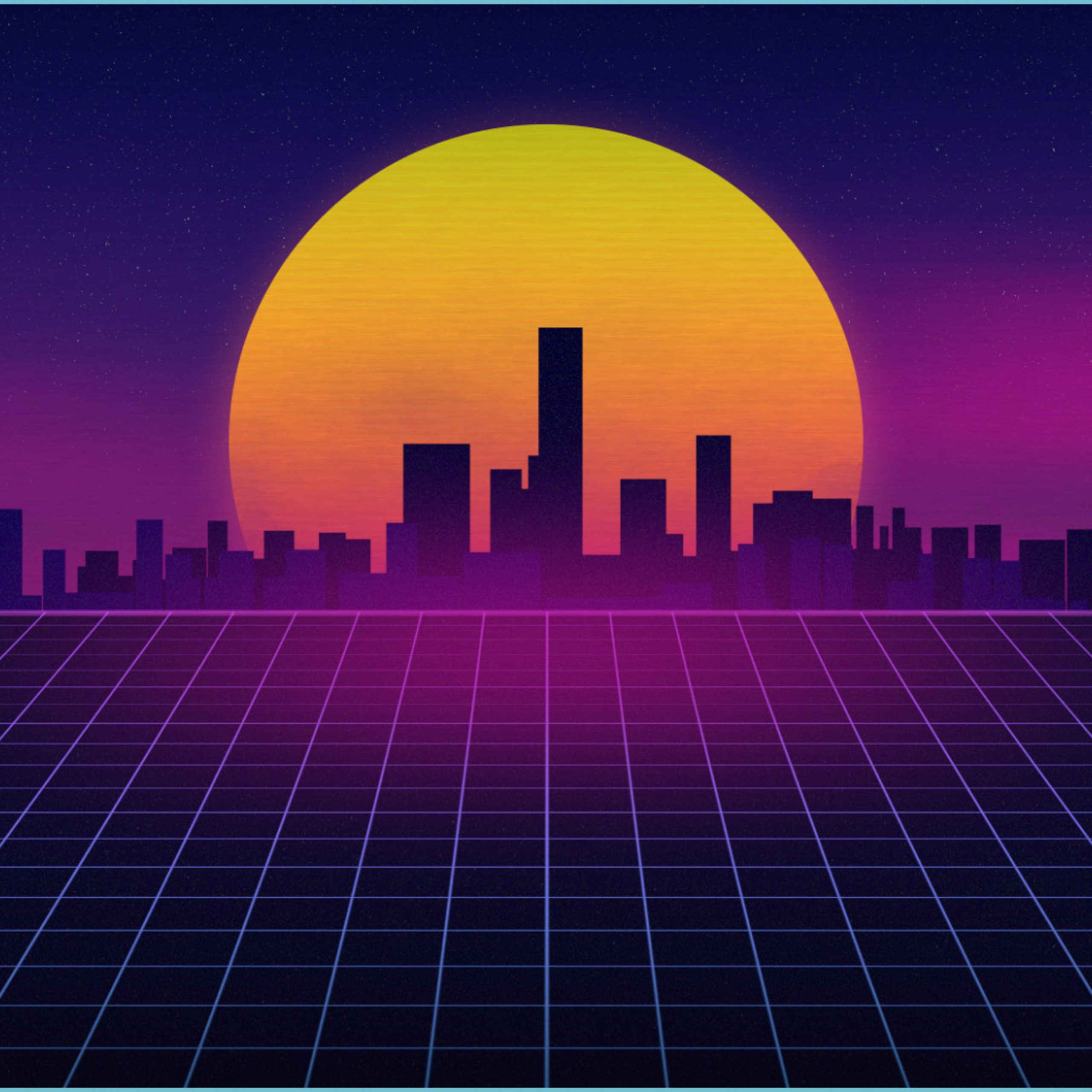 synthwave dual screen wallpaper by prostyle12 on deviantart dual monitor wallpaper