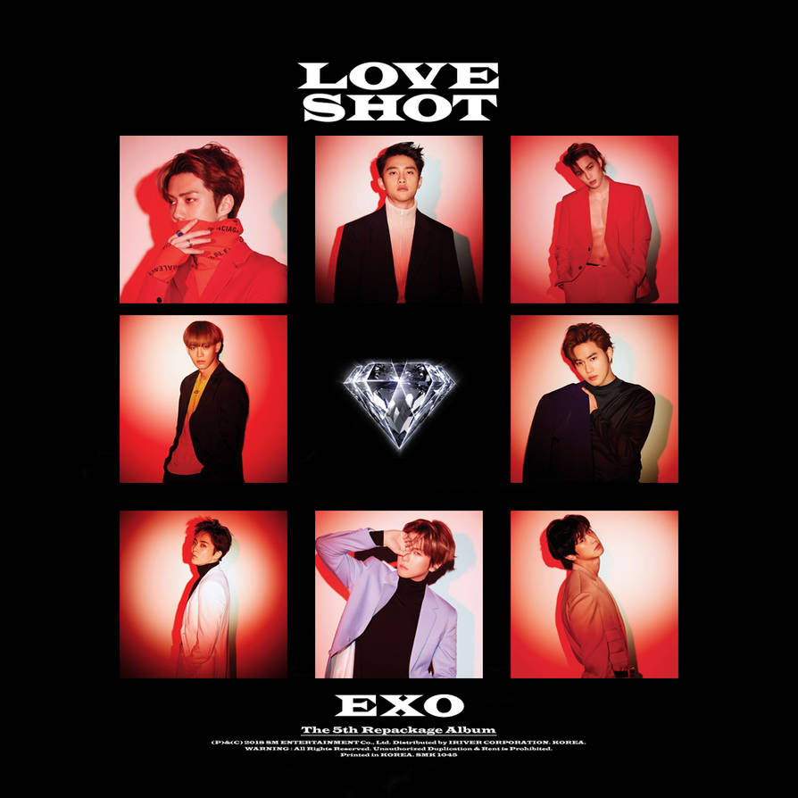 exo love shot 5th repackage album cover by thesentimentalmisfit dcudxoe pre