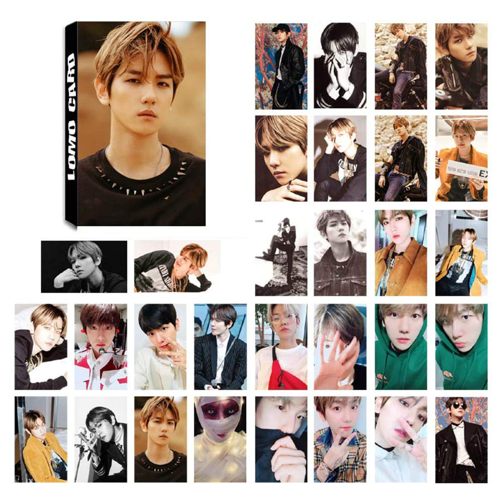 youyouchard kpop exo dont mess up my tempo photo postcard support lomo cards set t for fans 30 pcs or 32 pcs baek hyun 1