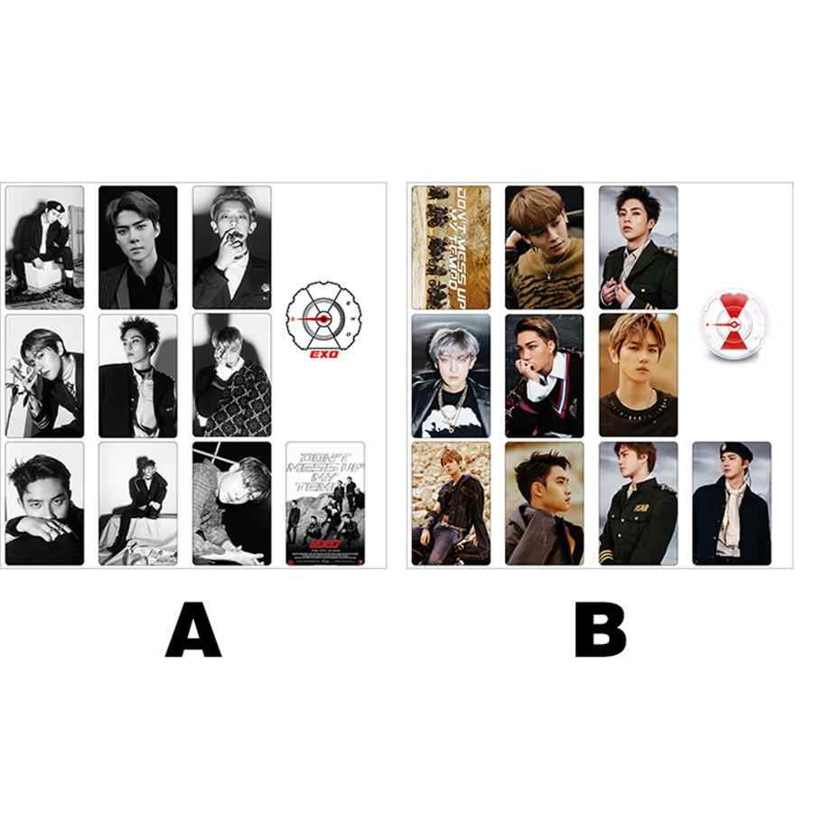 Kpop EXO Don t Mess Up My Tempo card Sticker New Album Crystal graph Sticker q50