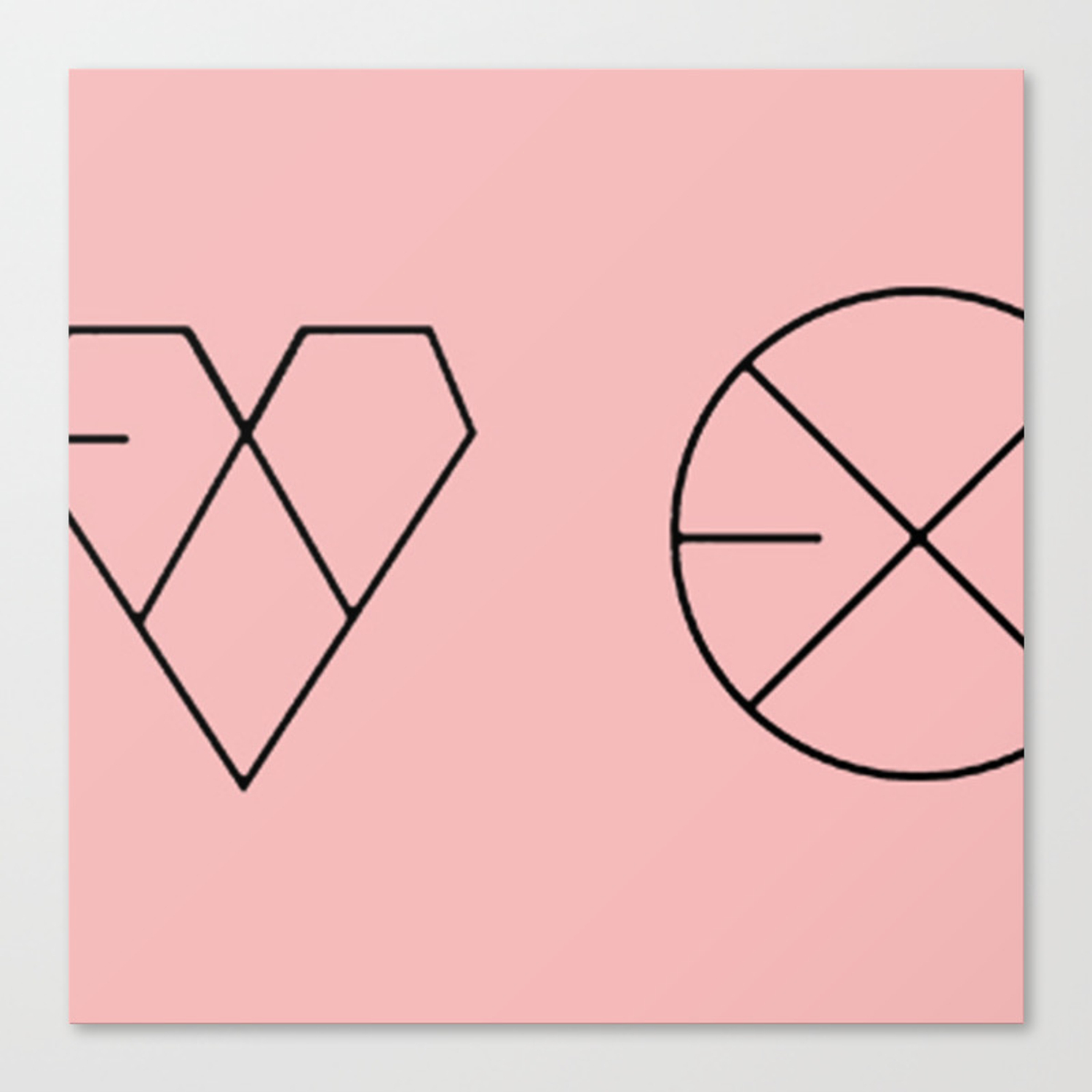 exo logos stretched canvas